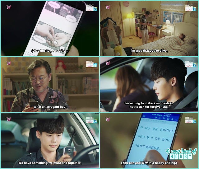 sung moo read the document fron the usb given by kang chul - W - Episode 9 Review