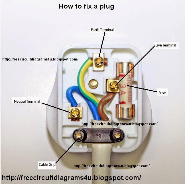 Free Circuit Diagrams 4u  How To Fix A Plug