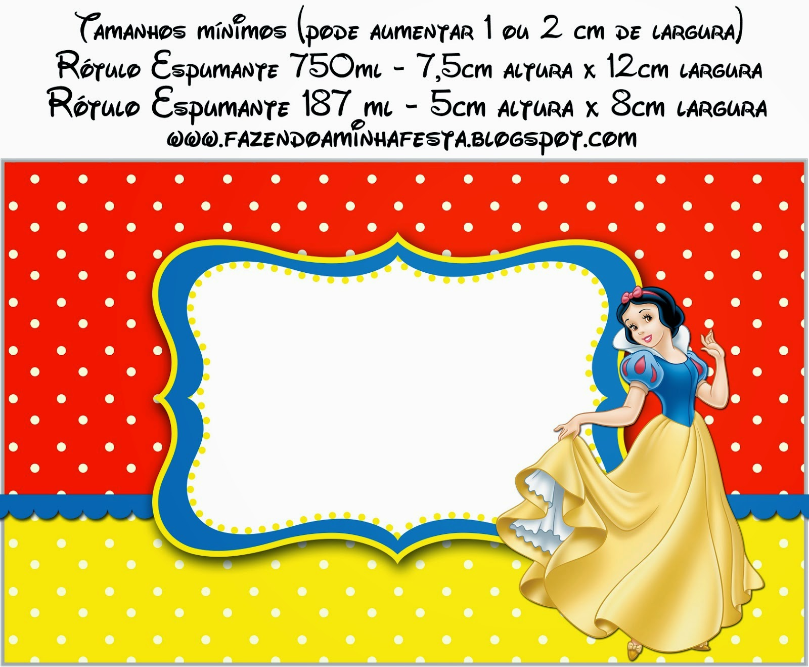 Snow White: Free Printable Candy Bar Labels. | Oh My Fiesta! in english