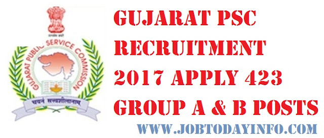 Gujarat PSC Recruitment 2017 Notification Apply Online for Private Secretary Posts GPSC Recruitment 2017 Apply Online