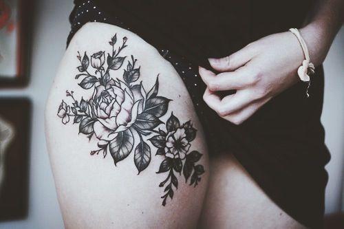 thigh tattoos design for impressive women | best tattoo design