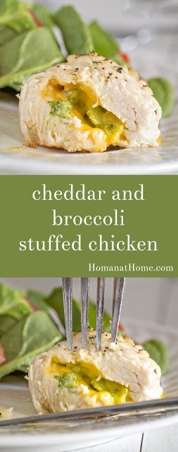 Cheddar and Broccoli Stuffed Chicken