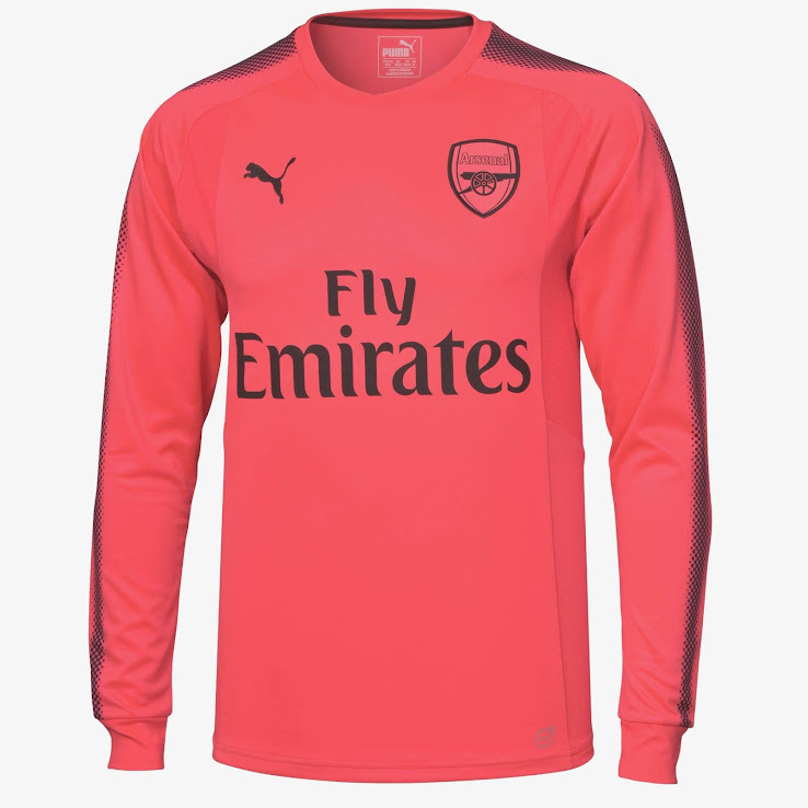 free shipping d138b cea5c Arsenal 17-18 Goalkeeper Home & Away Kits Released - Footy ...
