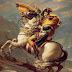 لوحة (نابليون معبر جبال الألب) الفروسية.