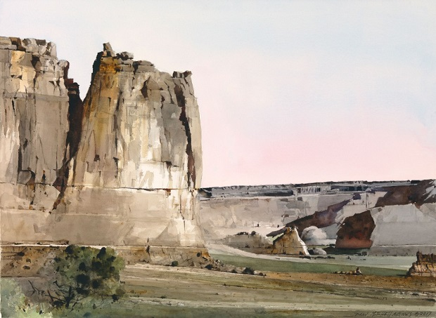 "by Dean L. Mitchell, ""Crowns of Zion"" - watercolor 
