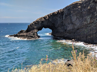 L'Arco dell'Elefante - a sea stack on Pantelleria.