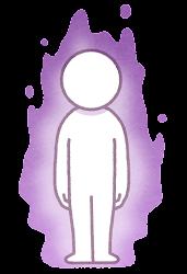 オーラのイラスト(紫)