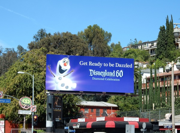 Disneyland 60 Diamond Celebration billboard