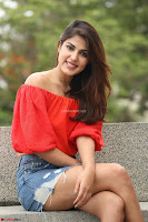 Rhea Chakraborty in Red Crop Top and Denim Shorts Spicy Pics ~  Exclusive 027.JPG