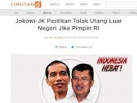 Utang Pemerintahan Jokowi Layak Masuk Rekor MURI