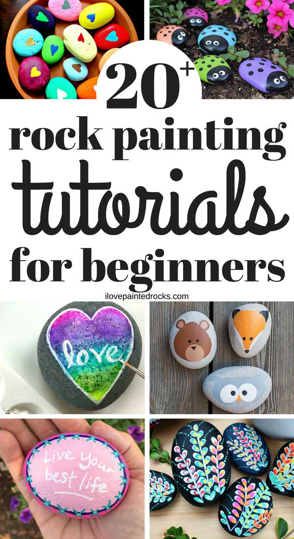 20+ Easy rock painting tutorials and simple rock painting ideas for beginners. #ilovepaintedrocks #rockpainting #paintedrocks #simplerockpainting #easyrockpainting
