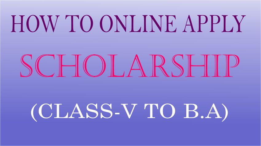 how to apply online scholarship step by step
