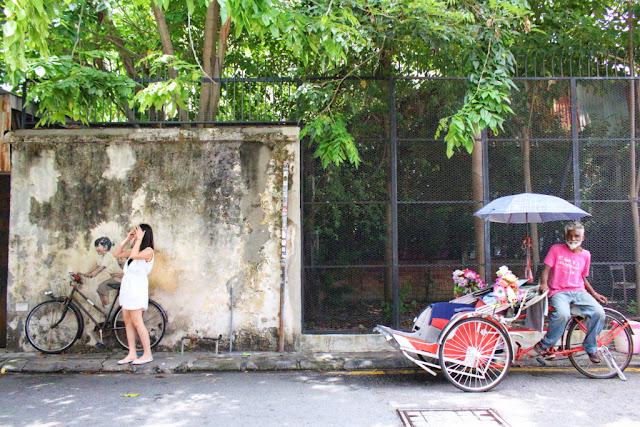 mural sepeda di penang