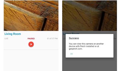 طريقة تحويل كاميرة جهاز الاندرويد الى كاميرة مراقبة عن طريق تطبيق Perch