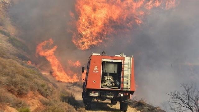 Και την Κυριακή υψηλός ο κίνδυνος πυρκαγιάς στην Αργολίδα