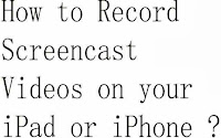 how to record screen in iphone