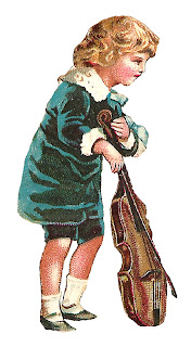 boy violin image victorian digital clip art