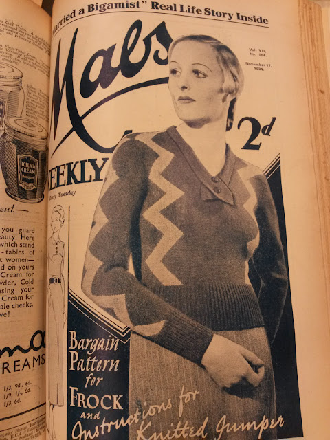 The Vintage Pattern Files: Free 1930s Knitting Pattern - Zig-Zag Stripes