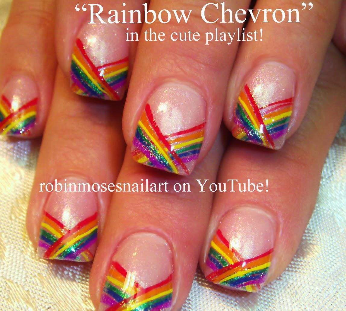 """Robin Moses Nail Designs: Robin Moses Nail Art: """"rainbow Nails"""" """"striped Nails"""