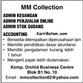 Lowongan Kerja MM COllection Business Centre