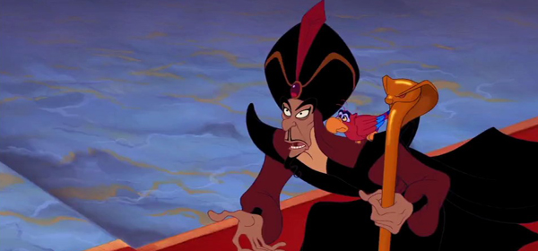 Jafar in Aladdin 1992 //animatedfilmreviews.filminspector.com/2012/12/aladdin-1992-king-of-genies.html
