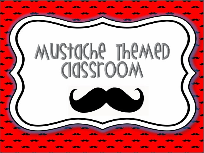 Creative Teaching Ideas Mustache Classroom Decoration Kit