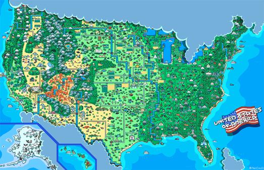 Maps Mania The 8 Bit Atlas