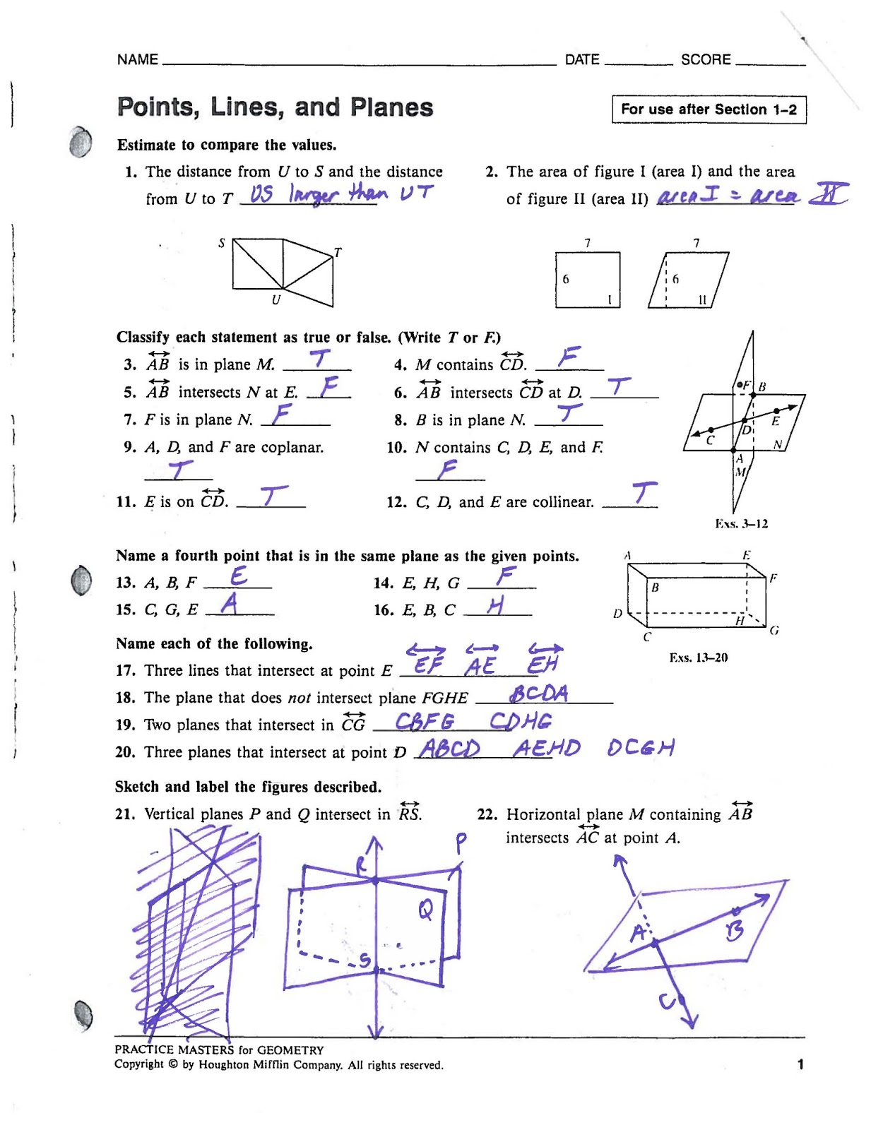 Mr Landers Math Classes Hhs Honors Geometry 9 6