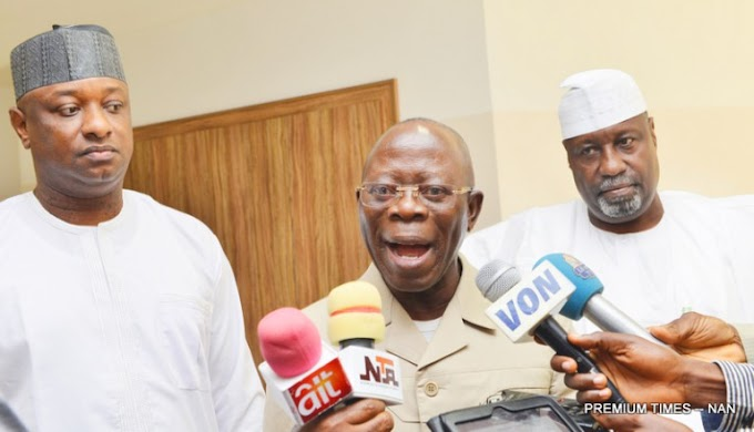 Those Who Left APC Are Right Wing Politicians, Oshiomhole speaks on lawmakers' defections