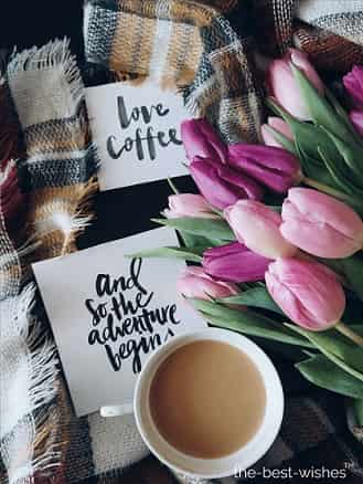 good morning quotes for her with coffee