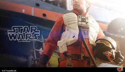 Imagen de Poe Dameron 1/6 Figure de Star Wars - Hot Toys