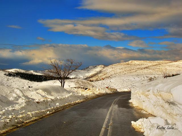 χιονια,ανατολη,παρνηθα,αττικη,χειμωνας,κρυο,φωτο Κώστας Λαδάς