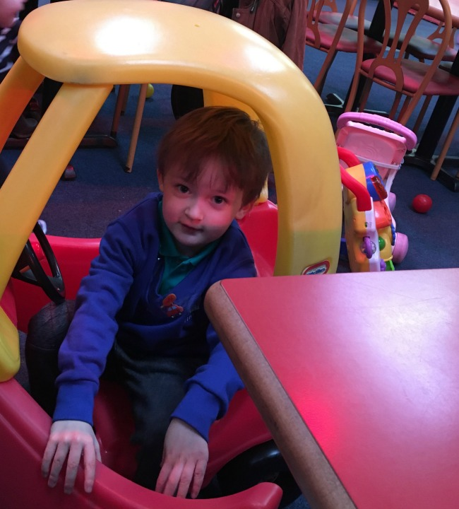 ants-inya-pants-soft-play-cardiff-boy-in-toy-car