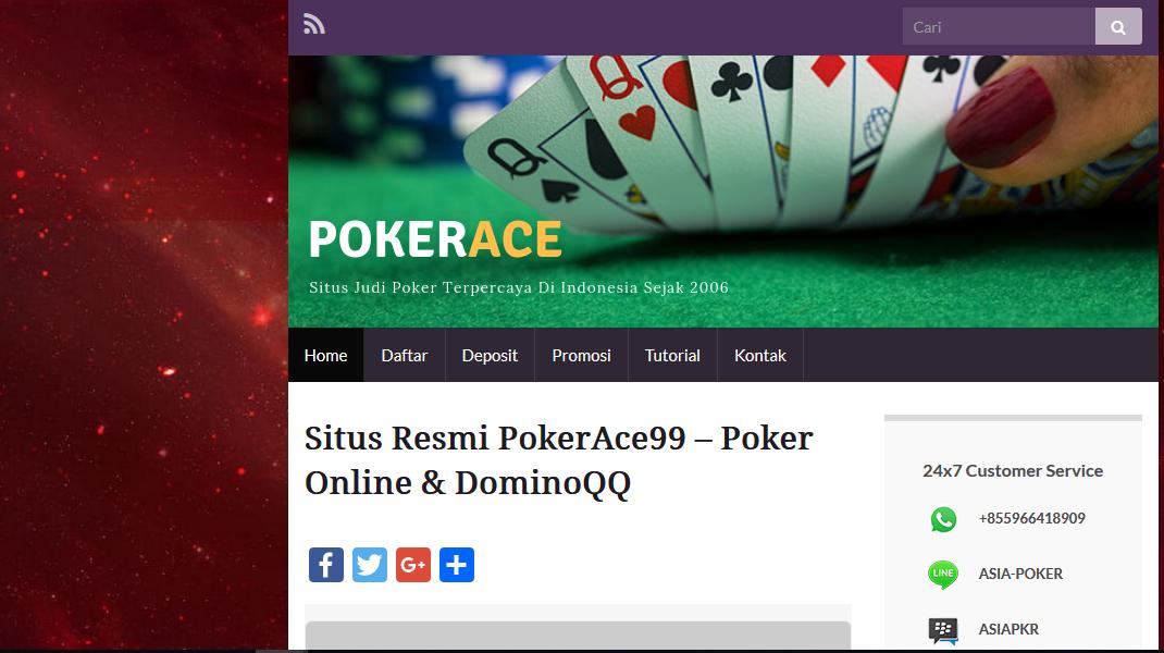 Tutorial Deposit Poker Online Uang Asli Pokerace99