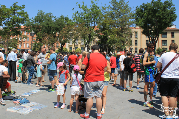 cambiar cromos en el Rastro en Madrid