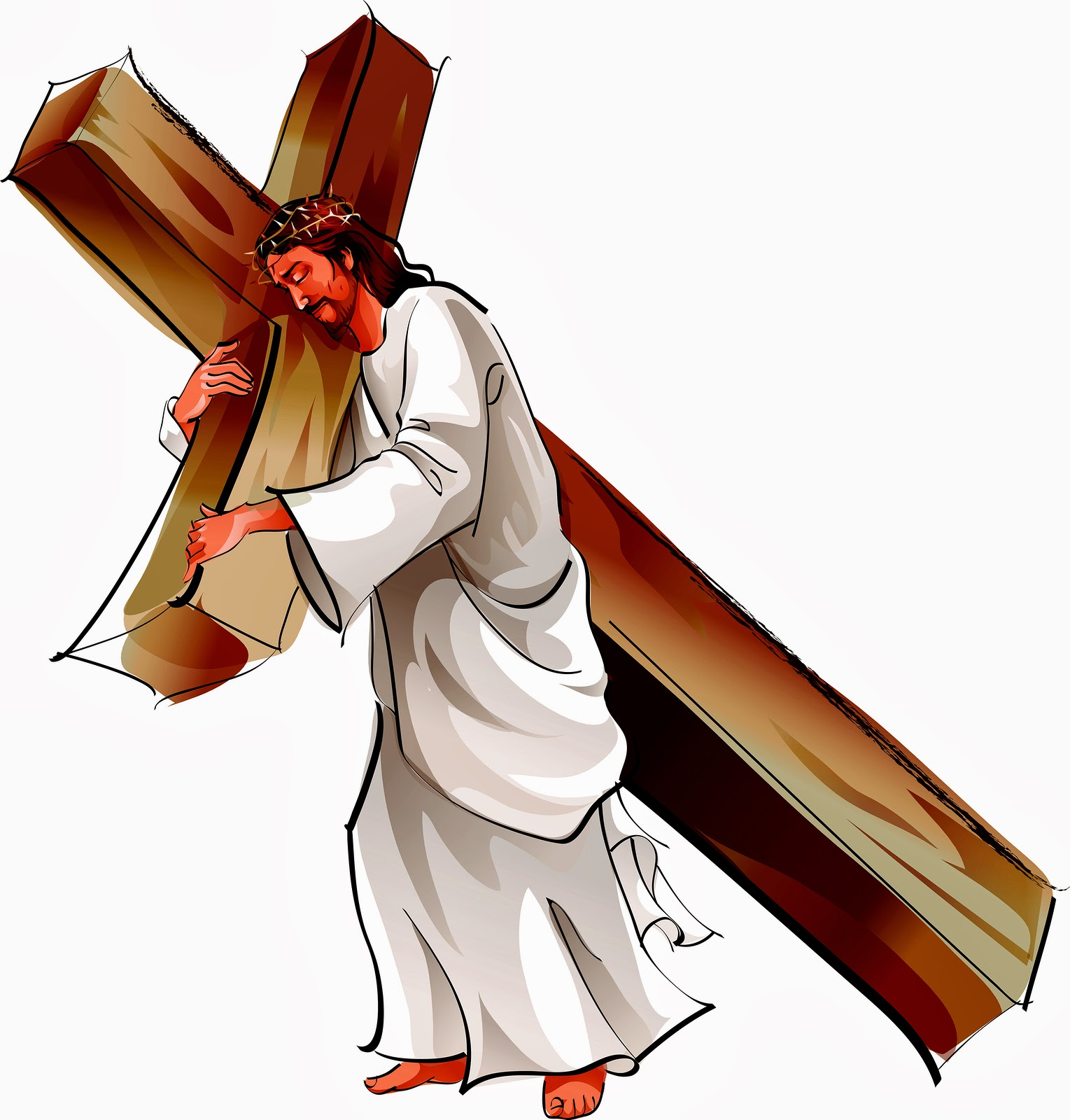 free clip art jesus carrying cross - photo #13