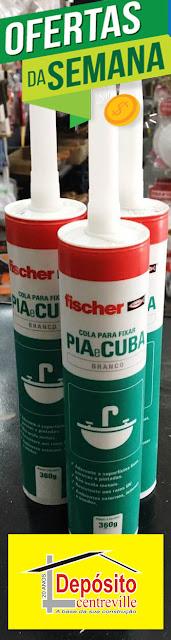 Fixa Cuba Fischer Branco. Cola para fixar pia e cuba.
