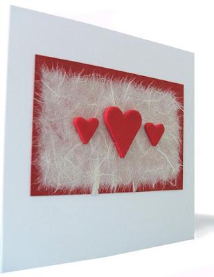 handmade hearts card
