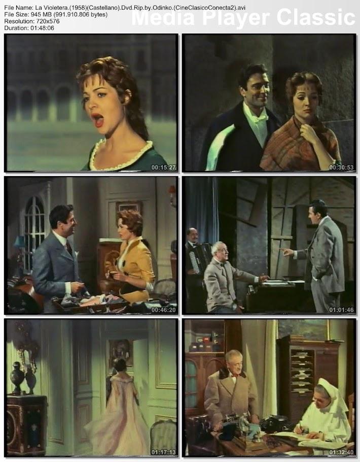 La violetera 1958   Secuencias de la película