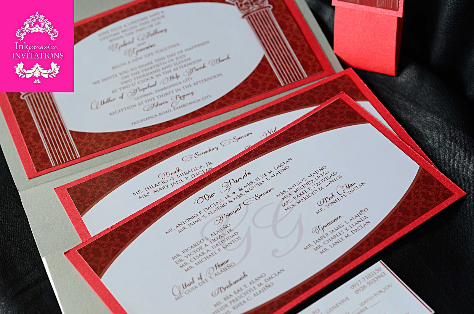 Red Black And Silver Wedding Invitations: Red And Silver Wedding Invitation