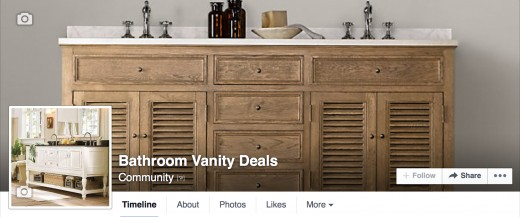Follow Me On Facebook For Bathroom Vanity Deals Every Day!
