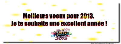 Statut facebook bonne année 2013