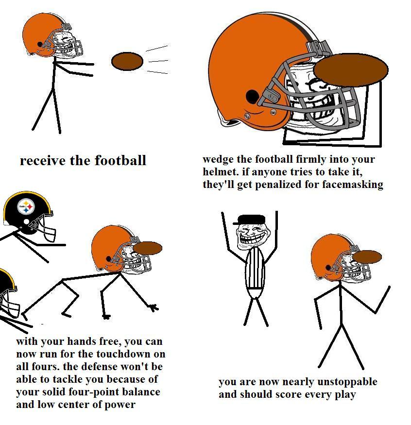Get a touchdown manipulating the helmet