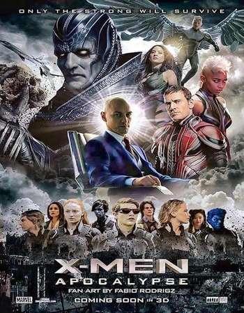 Poster Of X-Men Apocalypse 2016 Dual Audio 950MB HDCAM [Hindi – English] Free Download Watch Online Worldfree4u