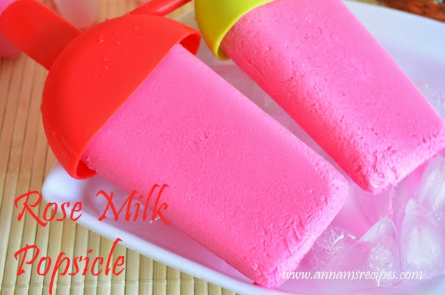 Rose Milk Popsicle