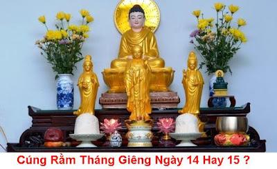 Cung Ram Thang Gieng Ngay 14 Hay 15
