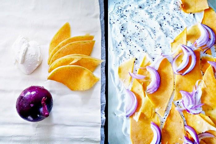 Kürbis-Zwiebel Flammkuchen