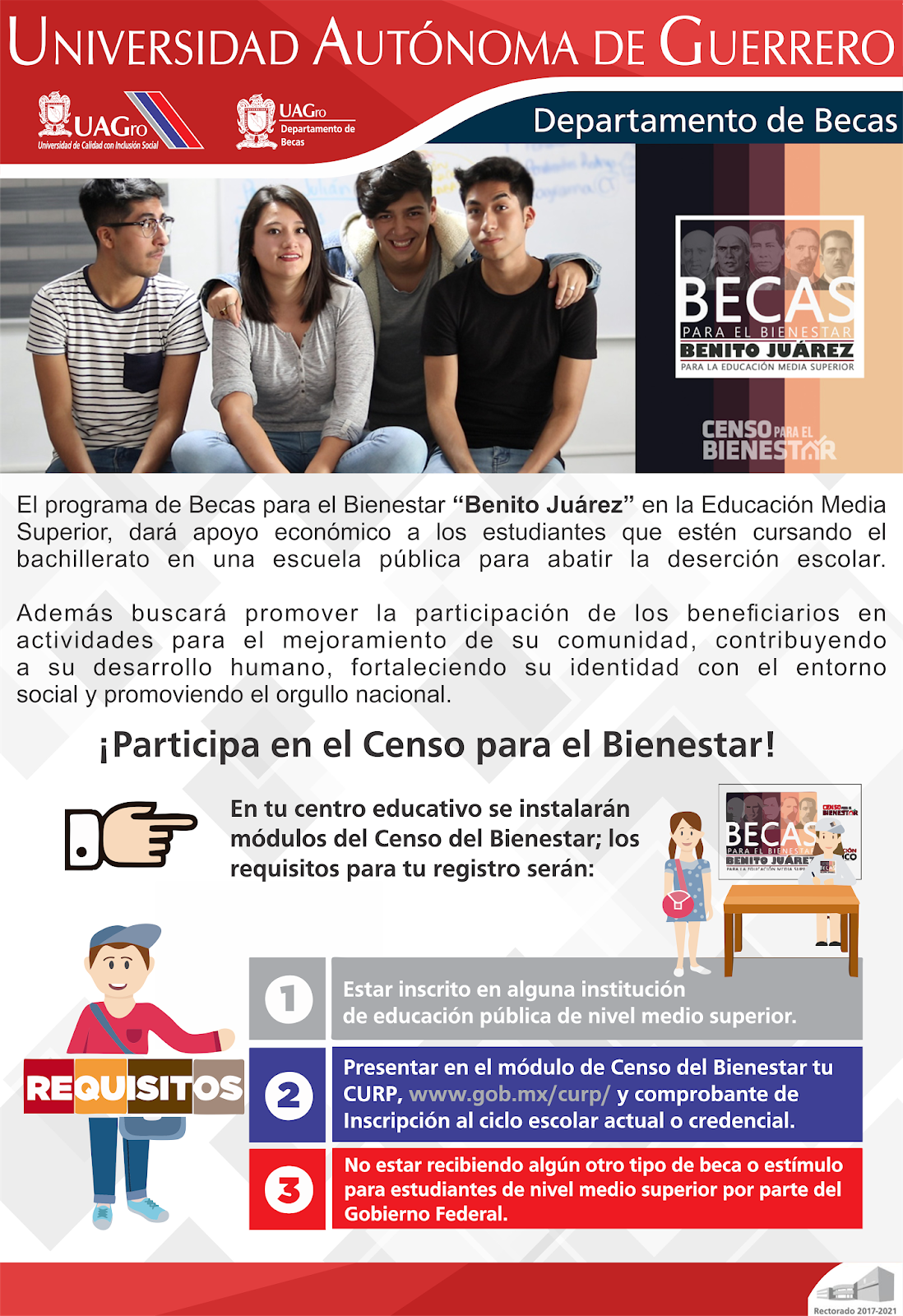 Departamento De Becas Uagro Censo Para El Bienestar Becas
