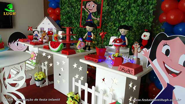 Festa infantil decorada com o tema Show da Luna - Aniversário feminino