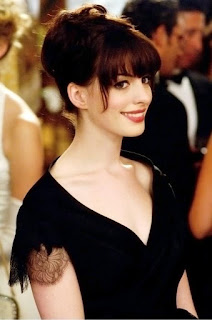 Updo with bangs hairstyle